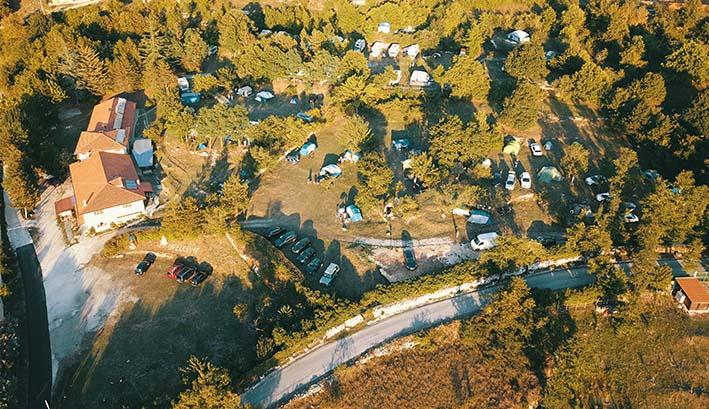 camping dall'alto